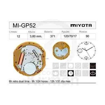 MOVIMIENTO MIYOTA GP52