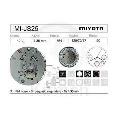 MOVIMIENTO MIYOTA JS25 CAL. 4H