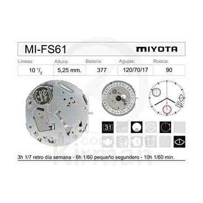 MOVIMIENTO MIYOTA FS61