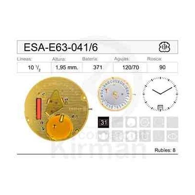 MOVIMIENTO ESA E63-041 CAL 6H