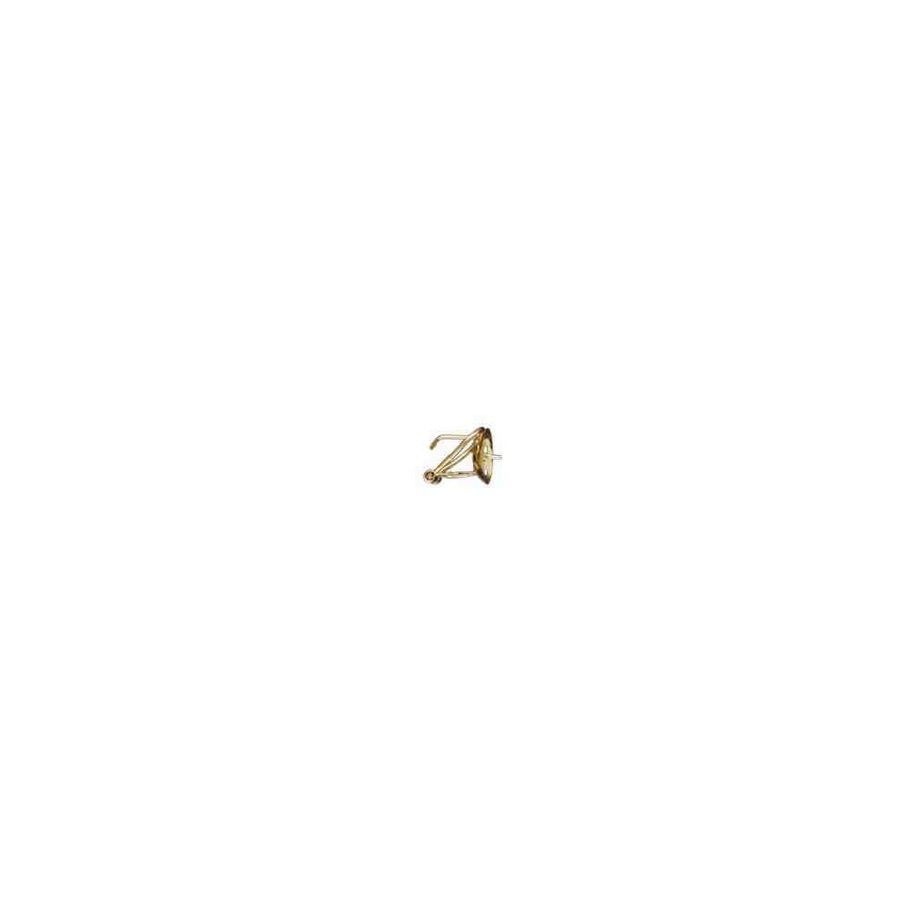 Casquilla para perla japonesa c/omega 15mm.OA.18 Kt 25005 **