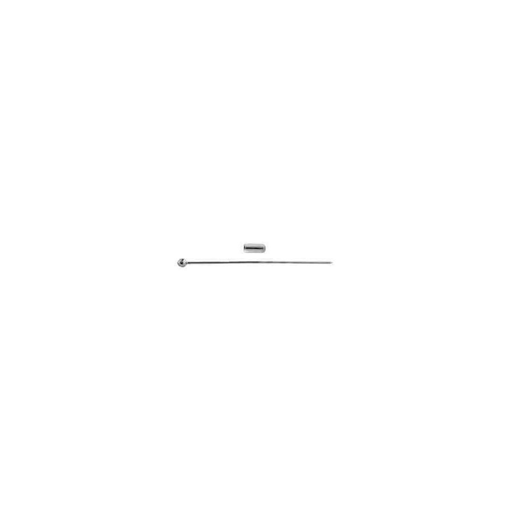 Alfiler con pin c/bola.Long 70mm.Hilo 1mm.AG-925 42422
