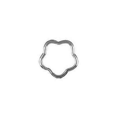 Llavero espiral silueta media caña.AG-925 48575