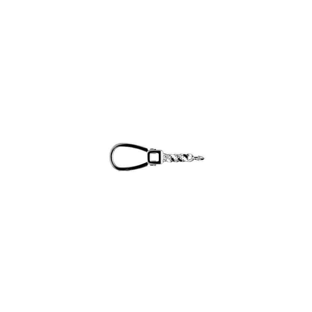 Lira con cadena long.70mm-bombilla 19mm.AG-925 48590