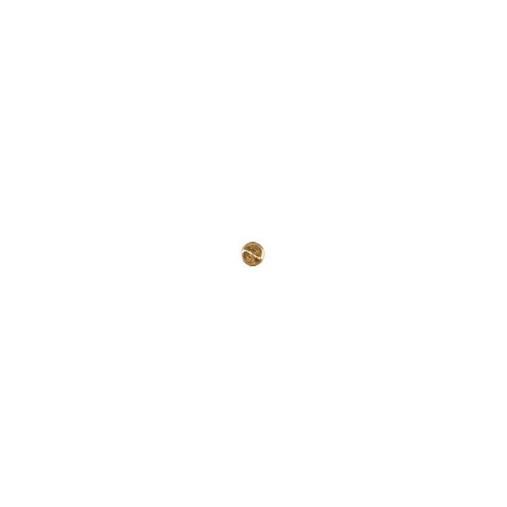 Seguro de pin dorado.Latón 64503