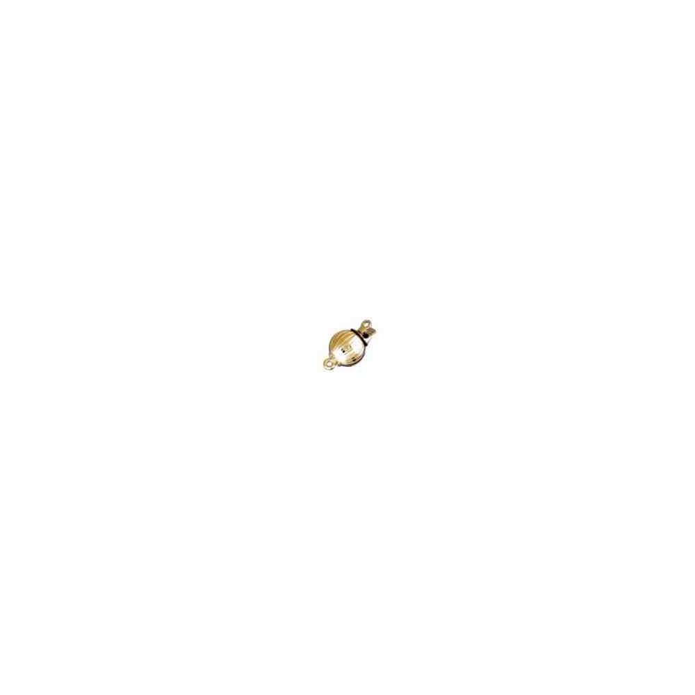 Broche de bola gallonado 12mm.AG-925 CH. 70041