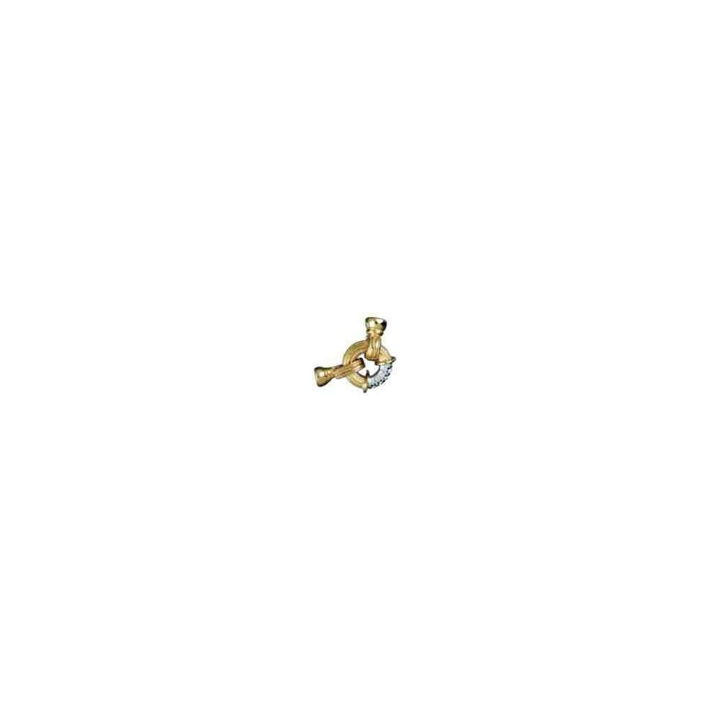 Broches plata chapada 1ª ley - 70611