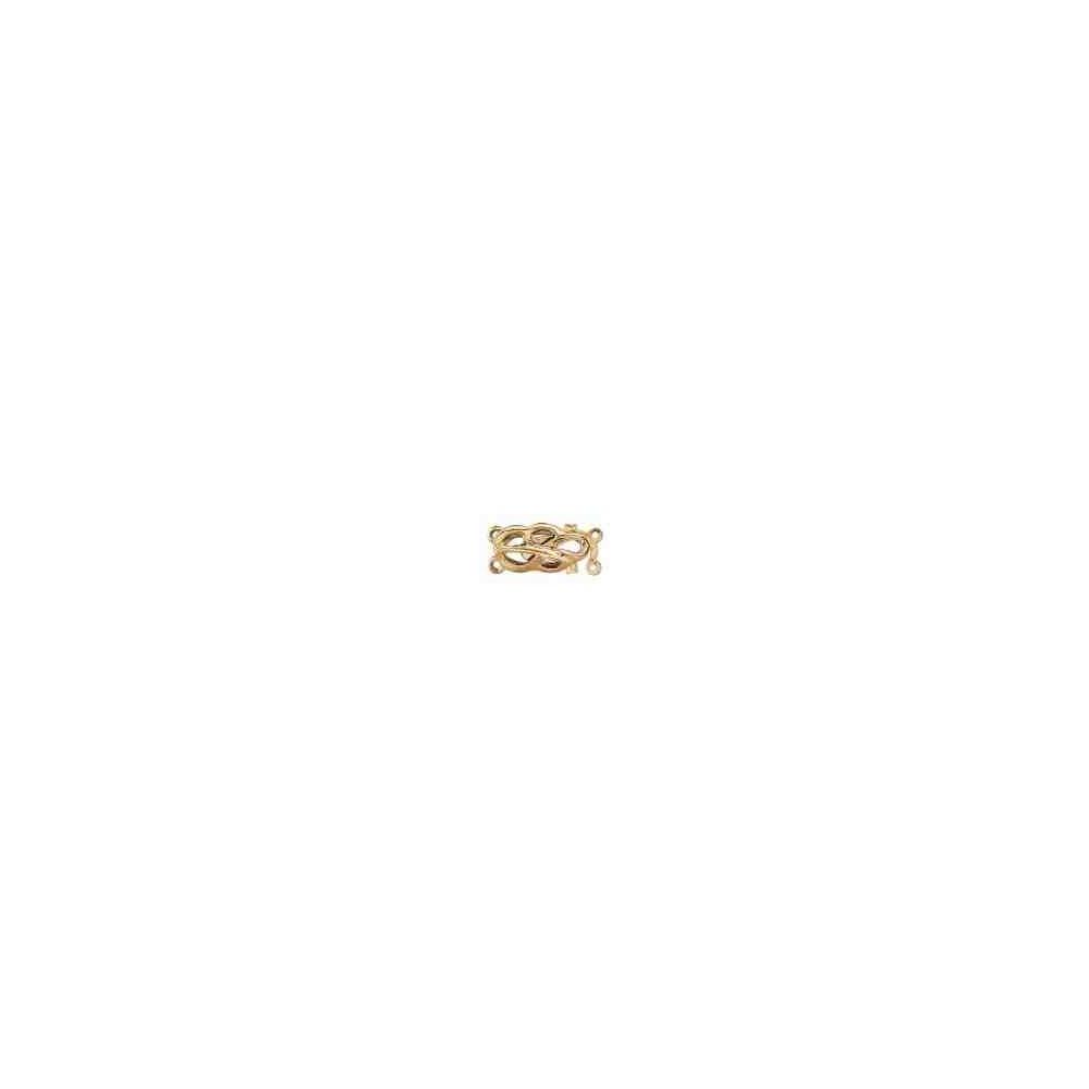 Broche de collar 2 vueltas.AG-925 CH. 70826