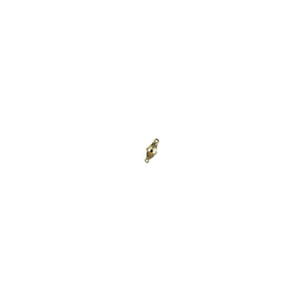 Cierre magnético olivina gallonada 11x6mm.AG-925 CH. 74120CH