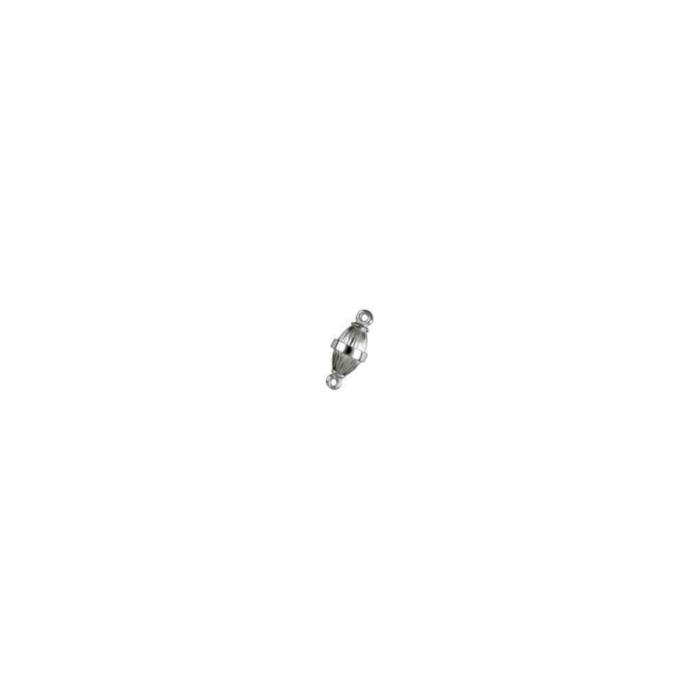 Cierre magnético olivina gallonada 14.5x8mm.AG-925 74121