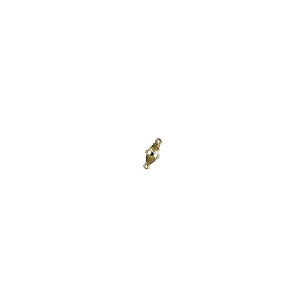 Cierre magnético olivina gallonada 14.5x8mm.AG-925 CH. 74121CH