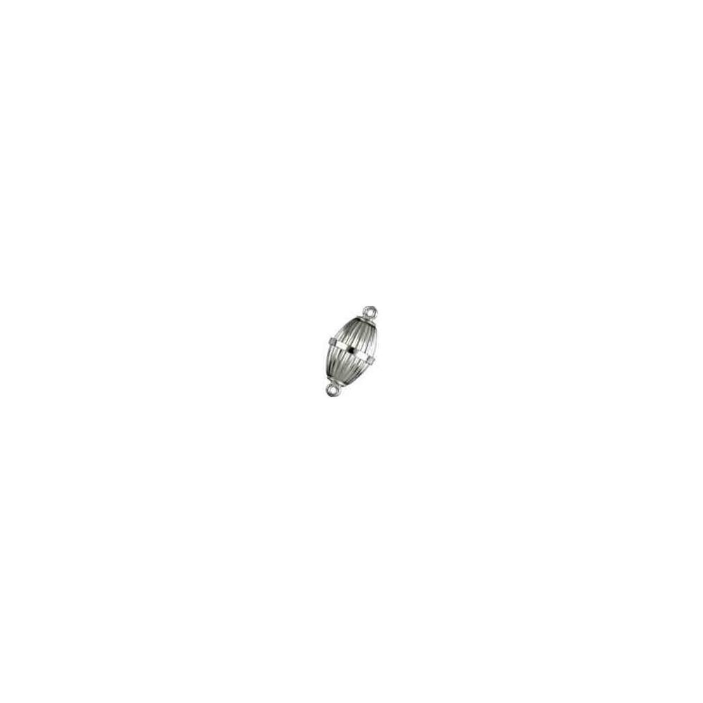 Broches imantados p/ley - Olivina gallonados 18 x 10 mm. 74122