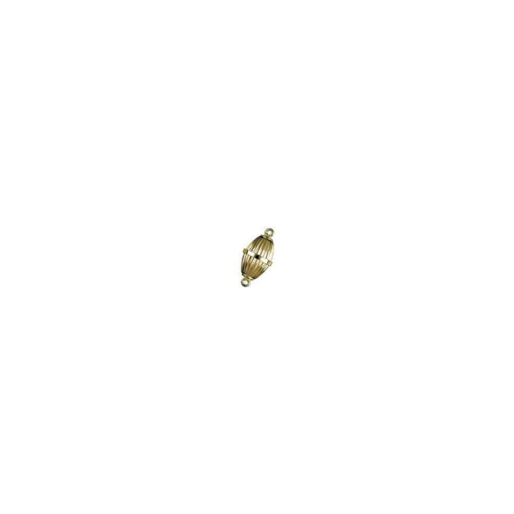 Cierre magnético olivina gallonada 18x10mm.AG-925 CH. 74122CH