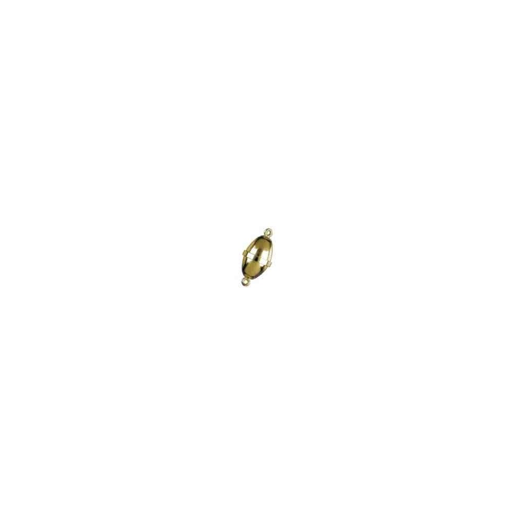 Cierre magnético olivina lisa 18x10mm.AG-925 CH. 74132CH