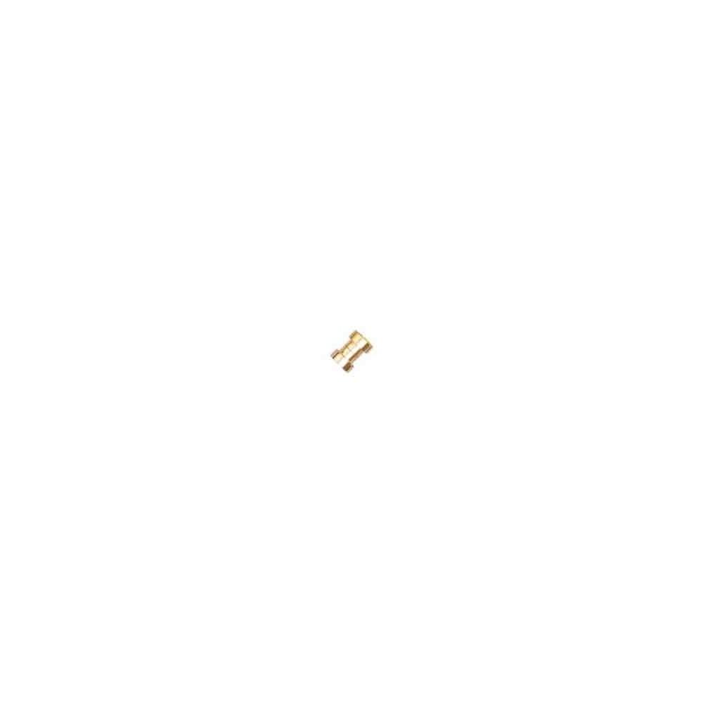 Cierre magnético dorado.Long.13x7.5mm.Int.7.2mm.AG-925 74447D