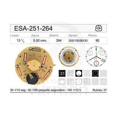 MOVIMIENTO ESA 251-264 CAL. 4H