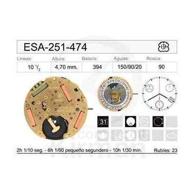 MOVIMIENTO ESA 251-474 CAL 4H