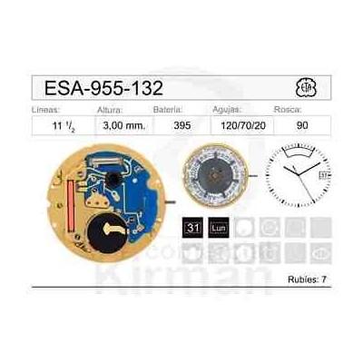 MOVIMIENTO ESA-955-132 CAL. 3H Y SEM. 12H