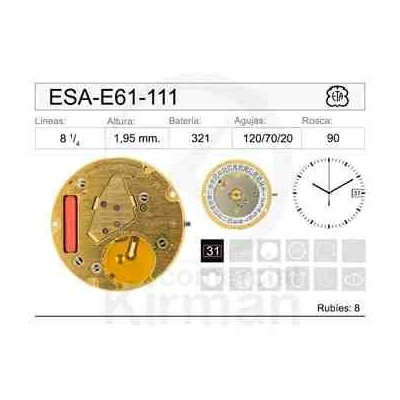 MOVIMIENTO ESA E61-111 CAL 3H