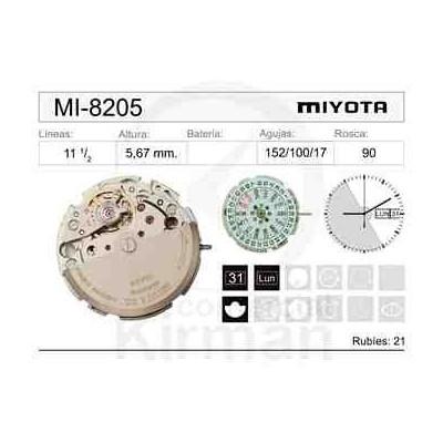 MOVIMIENTO MIYOTA 8205