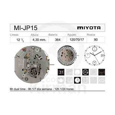 MOVIMIENTO MIYOTA JP15