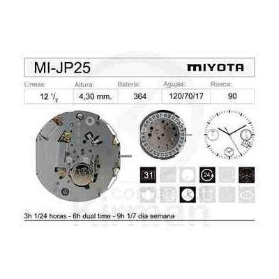 MOVIMIENTO MIYOTA JP25
