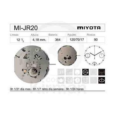 MOVIMIENTO MIYOTA JR20