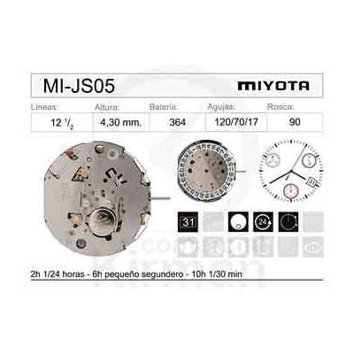 MOVIMIENTO MIYOTA JS05 CAL. 4H