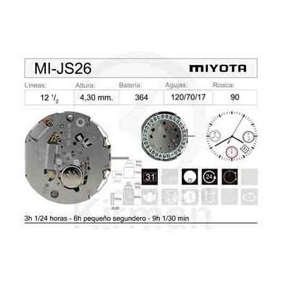 MOVIMIENTO MIYOTA JS26 CAL. 4H