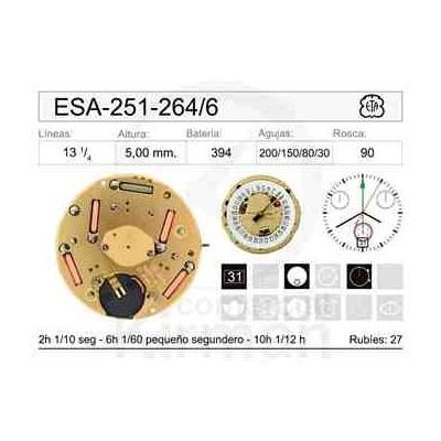 MOVIMIENTO ESA 251-264 CAL. 6H