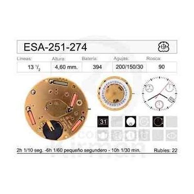 MOVIMIENTO ESA 251-274  CAL.3H