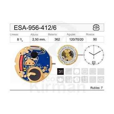 MOVIMIENTO ESA 956-412 CAL. 6H