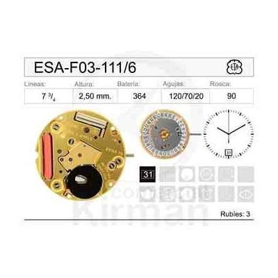 MOVIMIENTO ESA F03-111 CAL. 6H