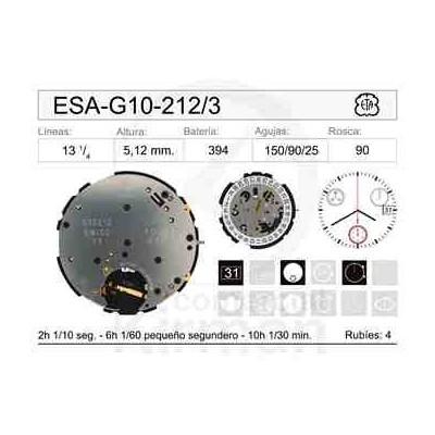 MOVIMIENTO ESA G10-212 CAL. 3H