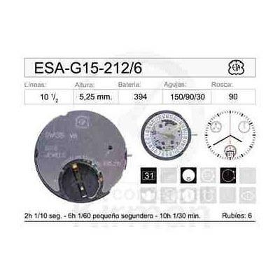 MOVIMIENTO ESA G15-212 CAL. 6H