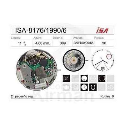 MOVIMIENTO ISA 8176/1990 CAL. 6H