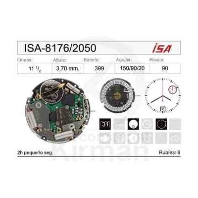 MOVIMIENTO ISA 8176/2050 CAL 6H