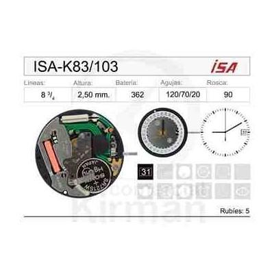 MOVIMIENTO ISA K83-103