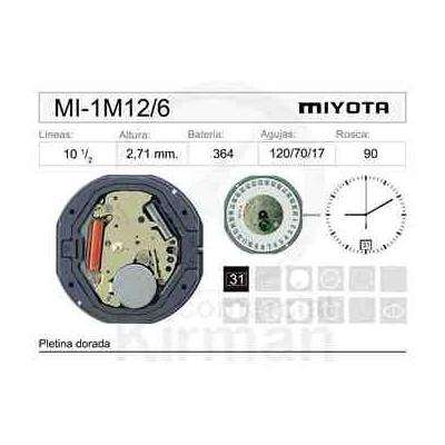 MOVIMIENTO MIYOTA 1M12/6