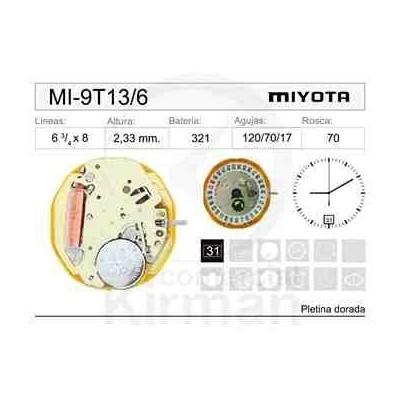 MOVIMIENTO MIYOTA 9T13 CAL. 6H