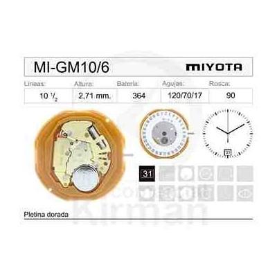 MOVIMIENTO MIYOTA GM10/6