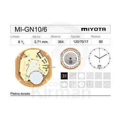 MOVIMIENTO MIYOTA GN10 CAL. 6H
