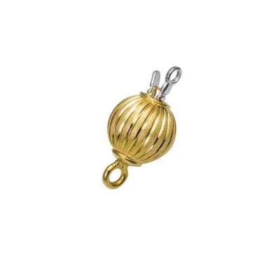 Broche de bola gallonado 8mm.OA.18 Kt 30043 **
