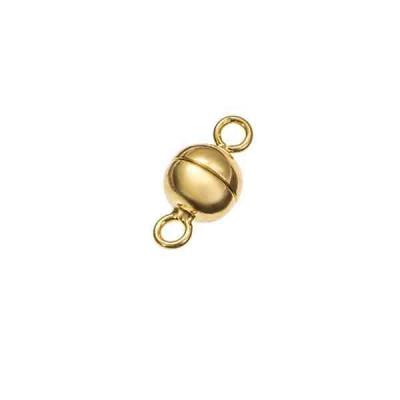 Cierre magnético dorado 7x6mm.AG-925 74247D
