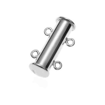 Broche de tubo 2 vueltas 21x5.6mm.Ag.925 76007