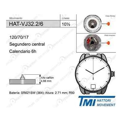 MOVIMIENTO HATTORY VJ32 CAL.6H ALT.2
