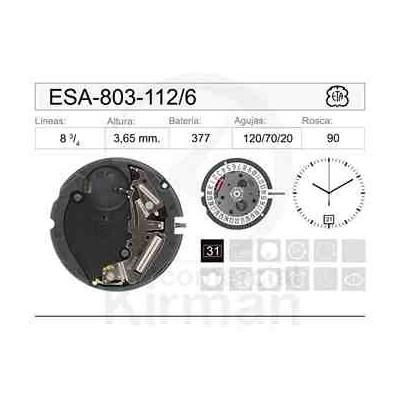 MOVIMIENTO ESA 803-112 CAL. 6H