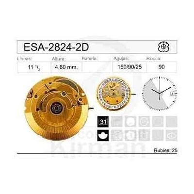 MOVIMIENTO ESA-2824-2 AUTOMÁTICO DORADO