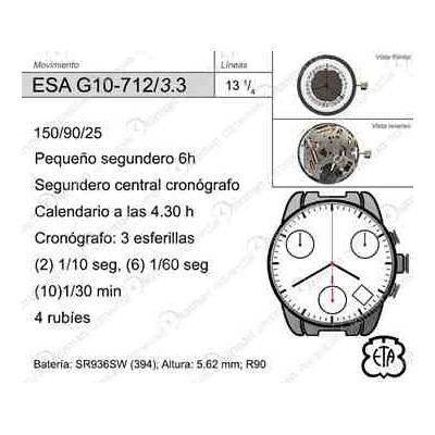 MOVIMIENTO ESA G10-712 CAL.3.30H