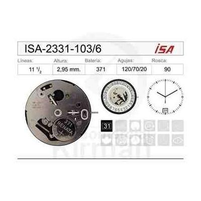 MOVIMIENTO ISA 2331-103 CAL. 6H